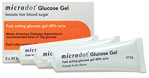 microdot ® great tasting fast acting glucose gel.