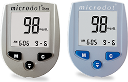 microdot ® Xtra and Microdot ® meter glucometers