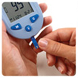 microdot® Blood Glucose Meter inserting Test Strip